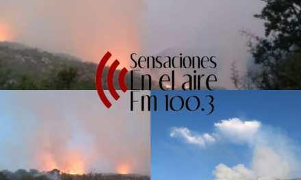 Bomberos de Carnerillo colaborando en el incendio en Los Hornillos