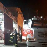 Incendio de cáscara de maní en el camino de Odonel