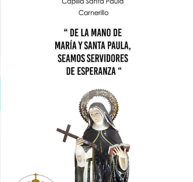 Carnerillo – Comenzó la Novena en Honor a Santa Paula