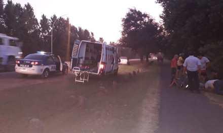 Deheza: Una transeúnte fue embestida por una moto