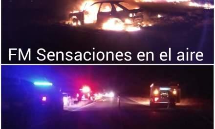 Incendio de vehículo de un cabrerense