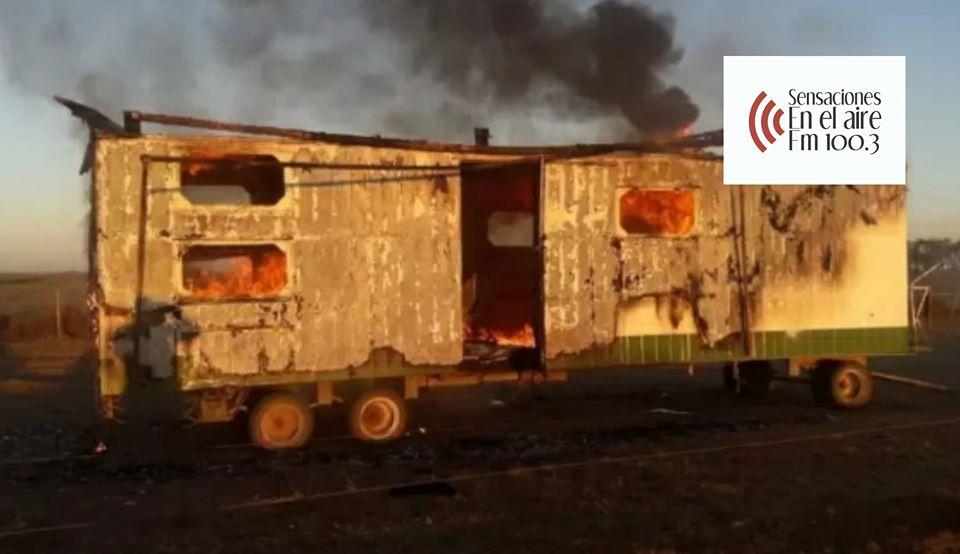 Villa Valeria: Se incendió por completo una casilla de un cabrerense
