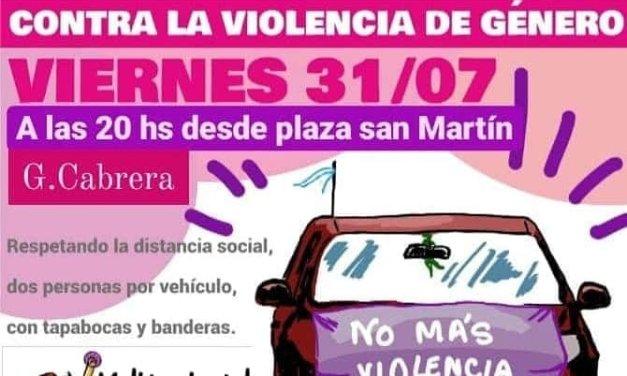 «No más Violencia de Género» – Caravana desde la plaza hoy a las 20 horas