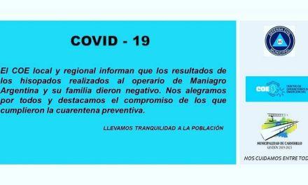 Carnerillo: Los resultados de los hisopados fueron negativos