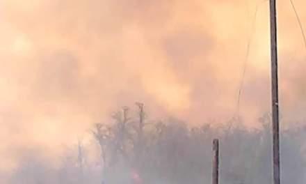 Bomberos de Cabrera participan en incendios de la zona