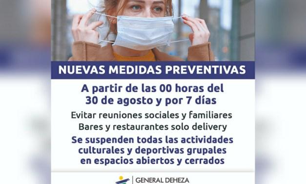 Deheza: 18 nuevos casos y nuevas medidas preventivas