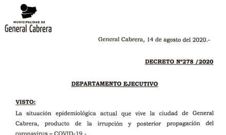 Cabrera en fase 1- Actividades esenciales y no esenciales