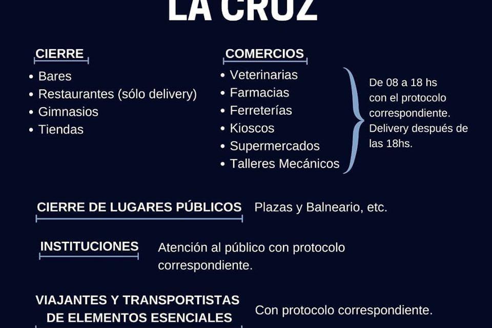Por el caso positivo de Embalse, aíslan preventivamente a 120 personas en La Cruz