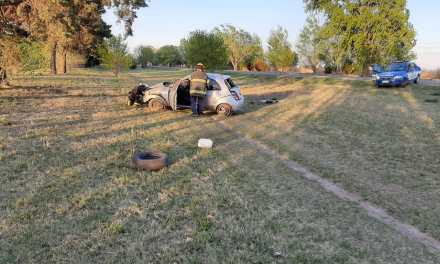 Una  agente de policía de Cabrera se accidentó en la ruta