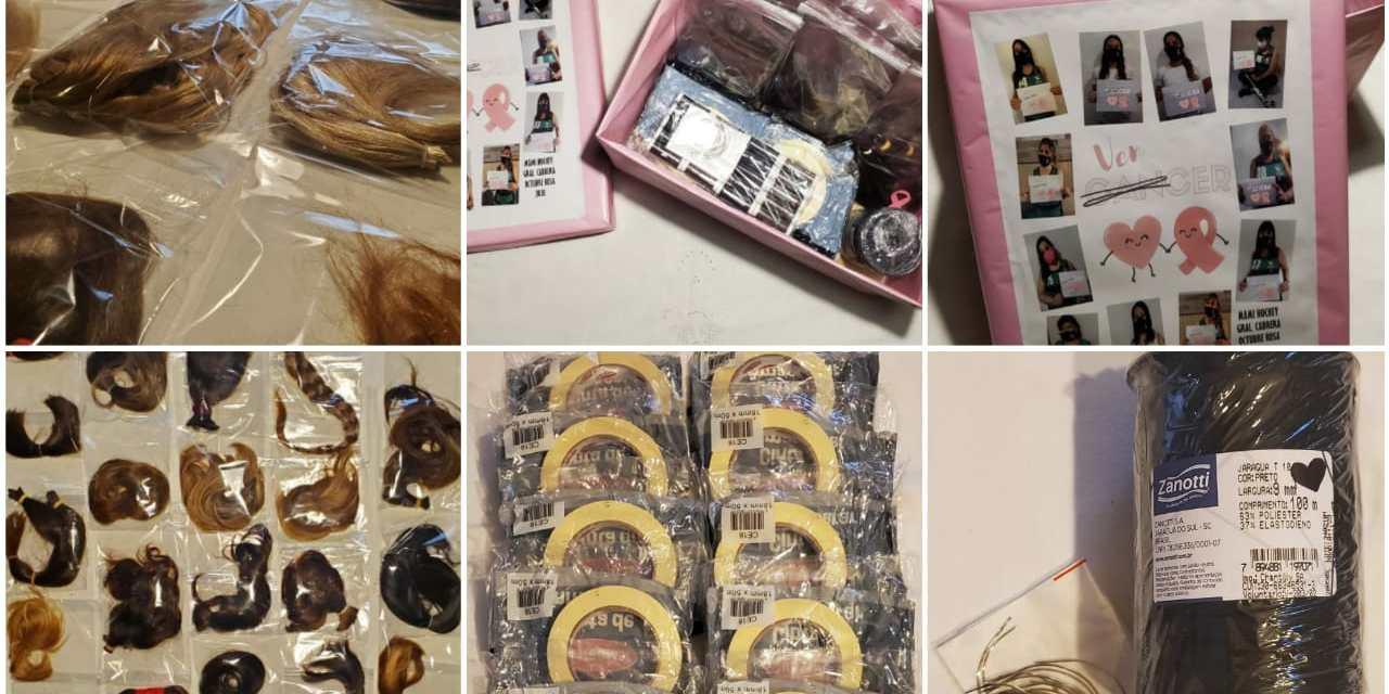 Mamis hockey de Cabrera juntaron 34 donaciones de cabello para pelucas oncológicas
