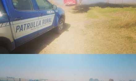 Incendio en zona rural este