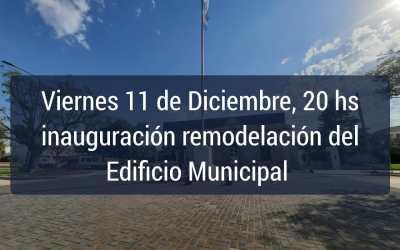 La inauguración de remodelación de la Muni ya tiene fecha