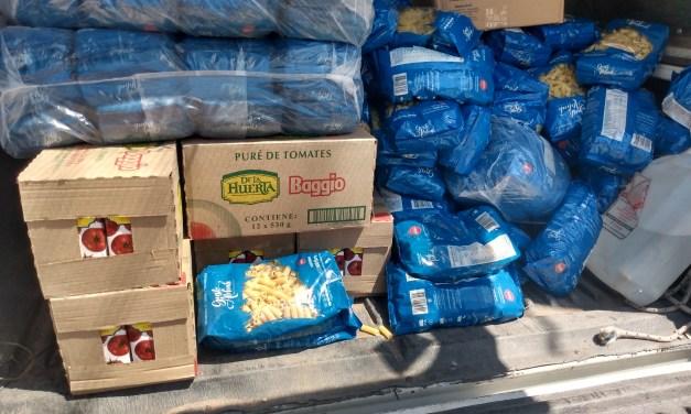 Cabrera Solidaria recibió una donación de $10.000 en alimentos