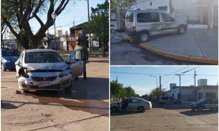 Accidente en Bv.España y 25 de mayo