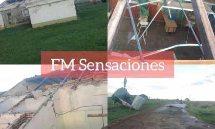 Deheza: Daño por temporal en Escuela Rural Mariano Moreno