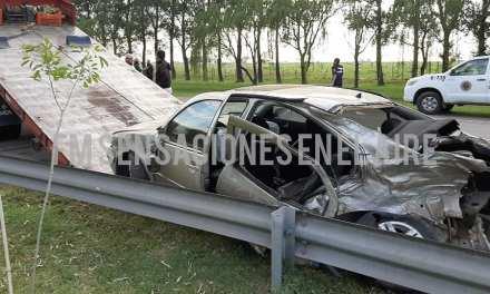 Deheza: accidente entre un auto y un camión