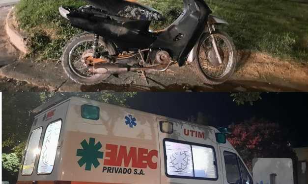 Accidente entre una moto y un vehículo