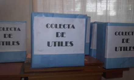Colecta de útiles organizado por el PJ