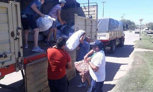 UATRE completó la carga con ayuda para San Juan