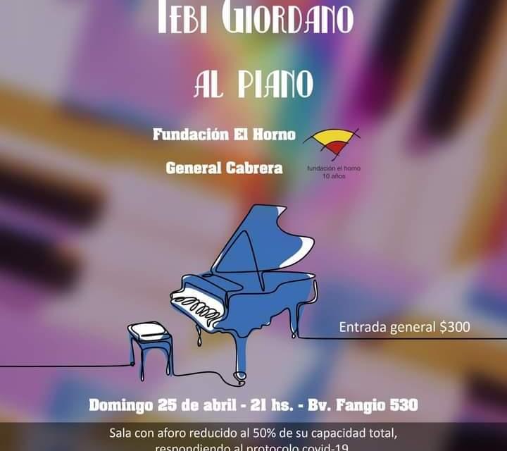 Tebi Giordano, «Al piano» en Fundación el Horno