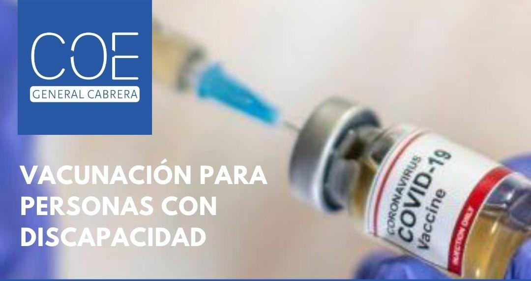 Vacunación para personas con discapacidad