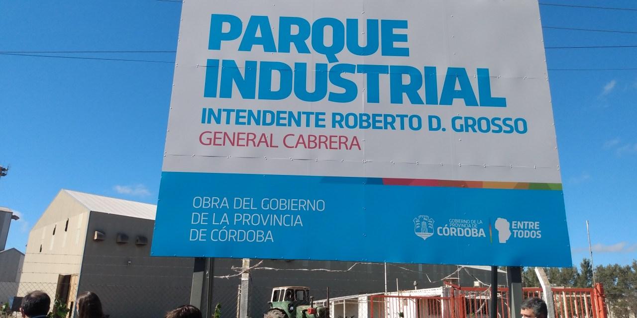 Intendentes y autoridades de la región acompañaron en el nombramiento oficial del Parque Industrial Roberto Grosso