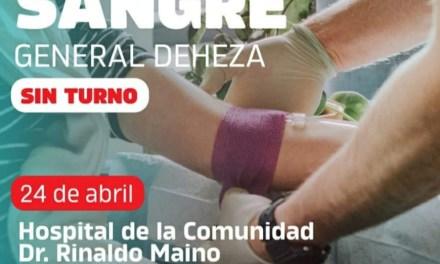Campaña donación de sangre en General Deheza