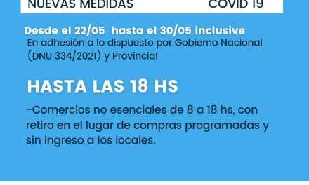 Cabrera: Comercios no esenciales con modalidad «Take away» hasta las 18 hs