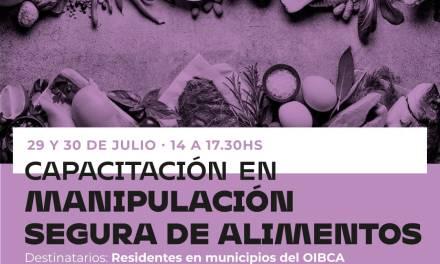 «Capacitación en manipulación segura de alimentos», 29 y 30 de Julio