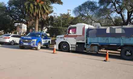 Secuestro de camión cargado con cereal