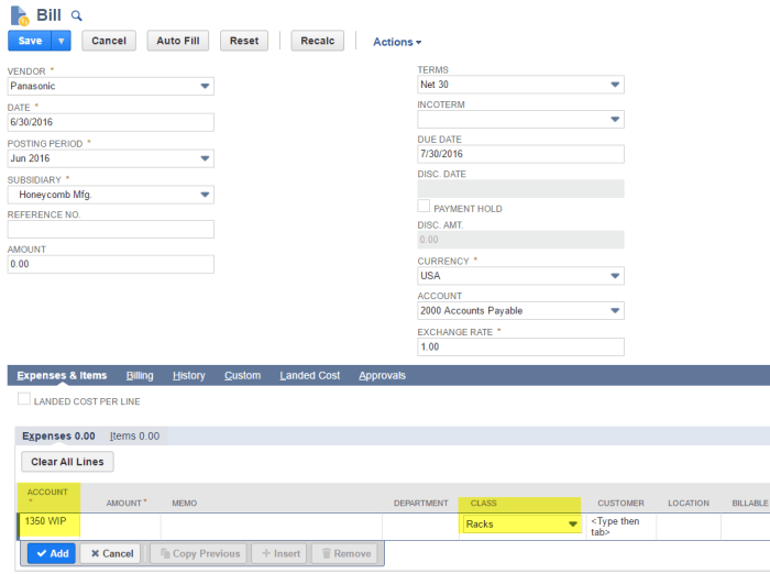 netsuite-customization-create-new-vendor-bill