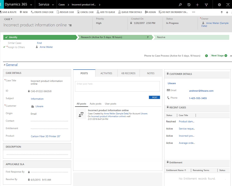 CRM Service Module