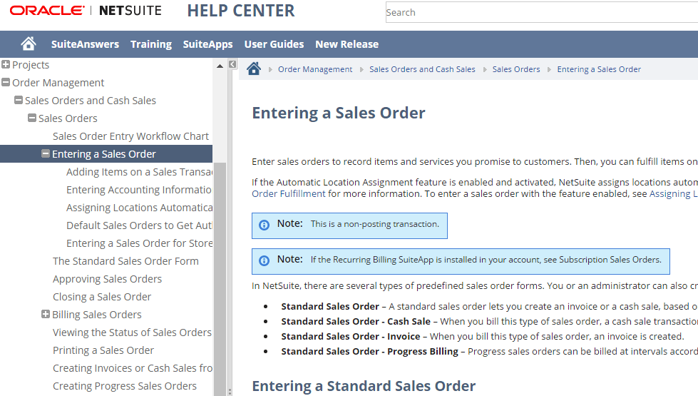 FMT Guide to NetSuite Resources-Entering Sales Order