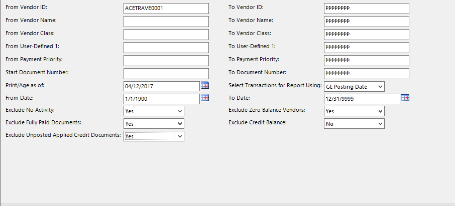 16. Enter information like you normally would and view report