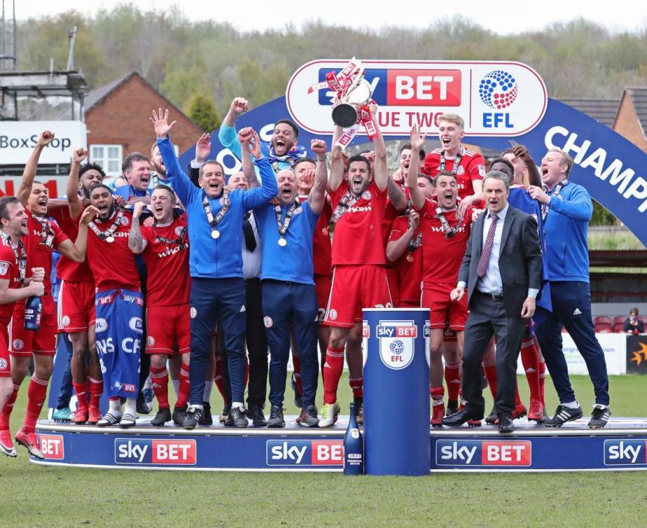 Accrington Stanley's celebration of league title win