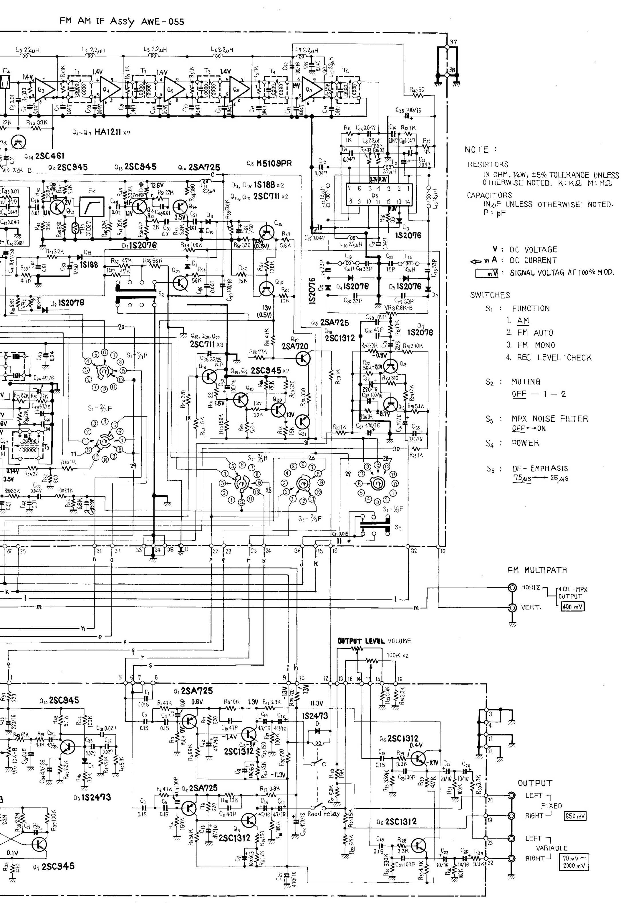 Bose 901 Speakers Series Wiring Diagram