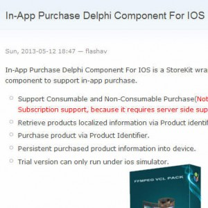 IAP Component For IOS Delphi Firemonkey