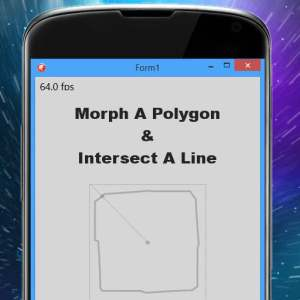 Delphi XE6 Firemonkey Morph A Polygon And Intersect A Line