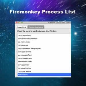 Delphi Firemonkey Process List Win32 OSX