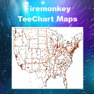 Delphi XE6 Firemonkey TeeChart Maps Android IOS