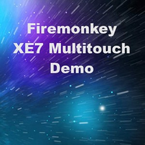 Delphi XE7 Firemonkey Multitouch Demo Example Source Code