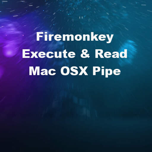 Read And Interact With A Command Line Pipe In Delphi XE7 Firemonkey