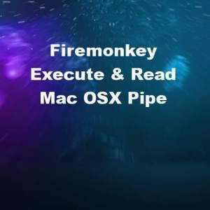 Delphi XE7 Firemonkey Mac OSX Command Line Pipe Example Code