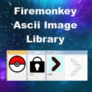 Delphi XE8 Firemonkey Ascii Image Library