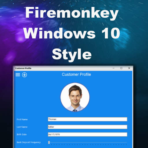 Free Windows 10 Style For Delphi XE8 Firemonkey On Windows