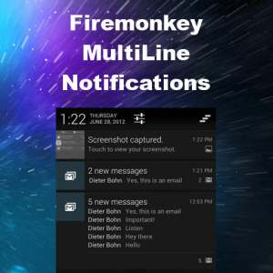 Delphi 10 Seattle Multiline Notifications Android