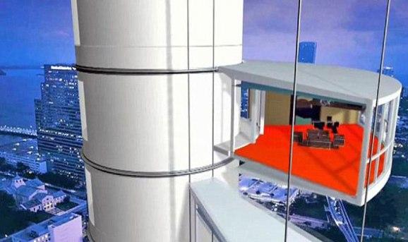 دبي على موعد مع افتتاح البرج المتحرك بعد انتهائه