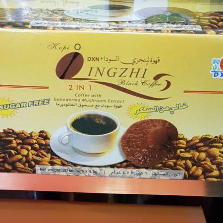القهوه السوداء مع مسحوق الجانوديرما