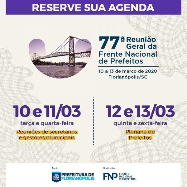 FNP abre inscrições para a primeira Reunião Geral de 2020