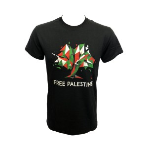 Free Palestine - Flag Tree - Black T-Shirt